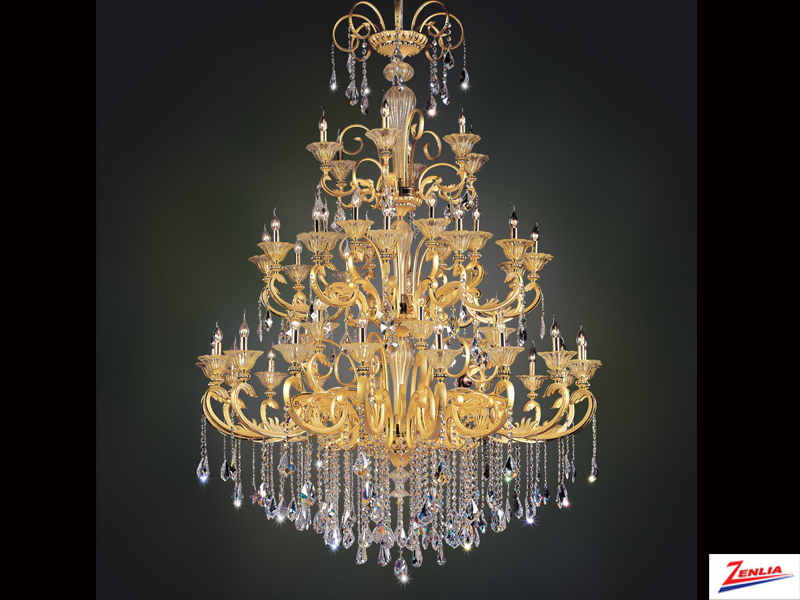 Legre 48 Light Chandelier With Antique Silver Leaf