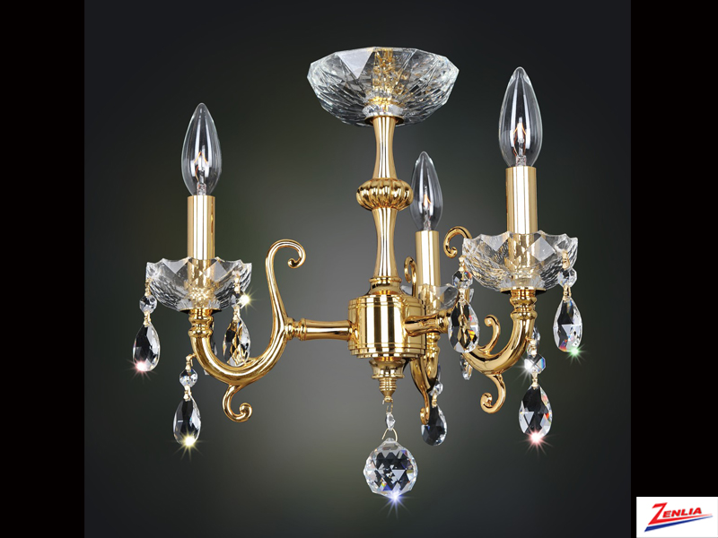 Bert 3 Light Mini Chandelier With Brushed Nickel