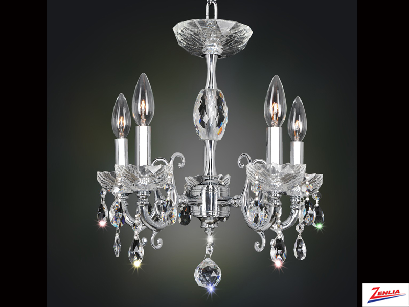 Bert 5 Light Mini Chandelier With Brushed Nickel