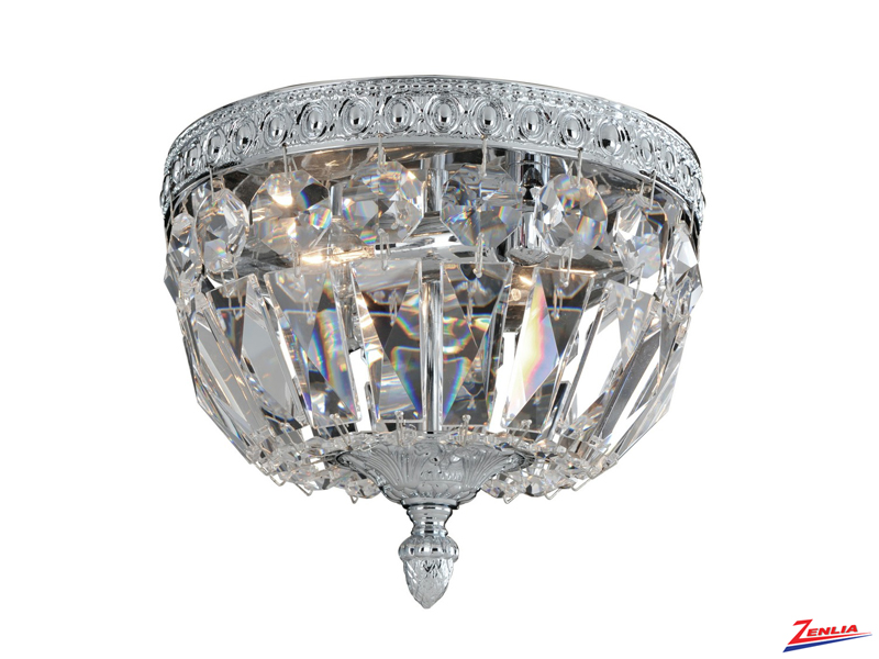 Lemi 2 Light Flush Mount With Chrome