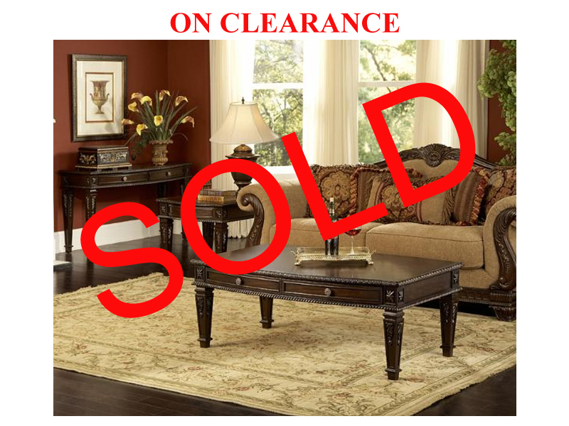3 Pc. Classic Coffee Table Set On Sale