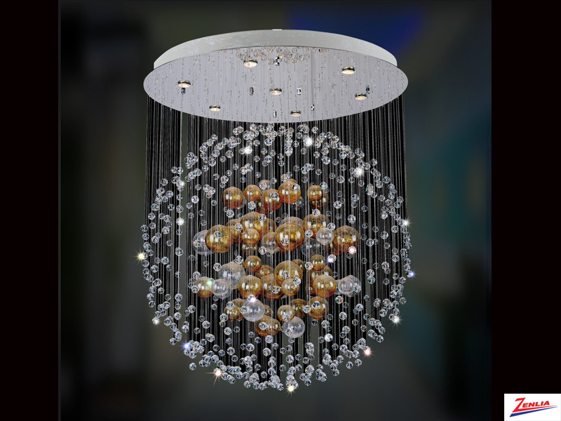 Vela 7 Light Round Flush Mount