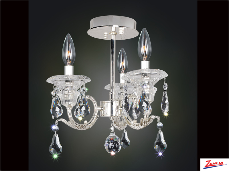 Hayd 3 Light Semi Flush