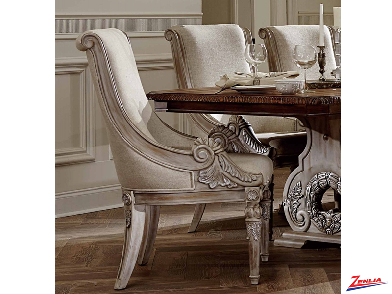 2168 White Wash Arm Chair