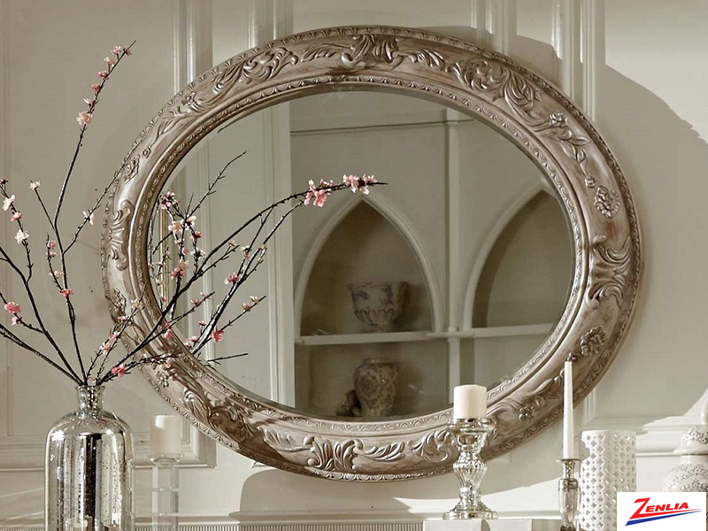 2168 White Wash Sideboard Mirror