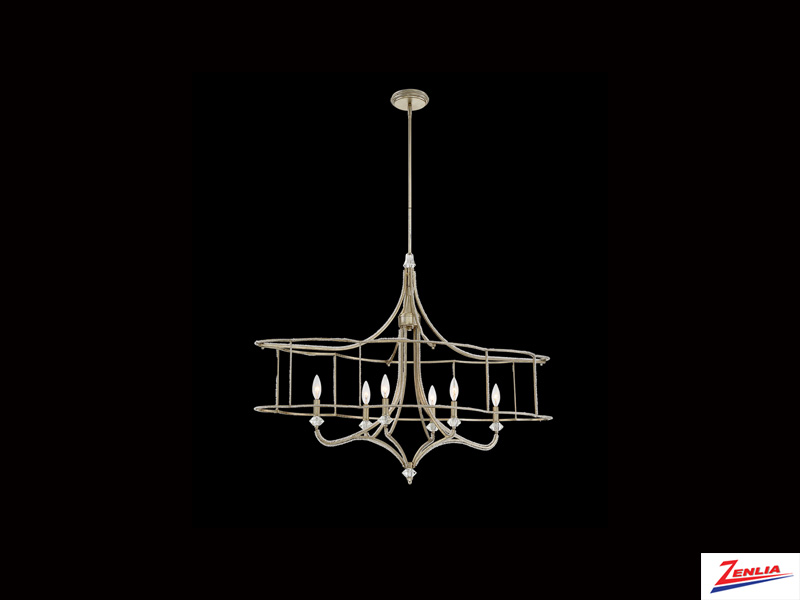 Palmi 6 Light Oval Chandelier