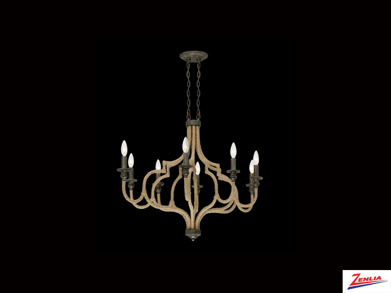 Cord 8 Light Chandelier 1