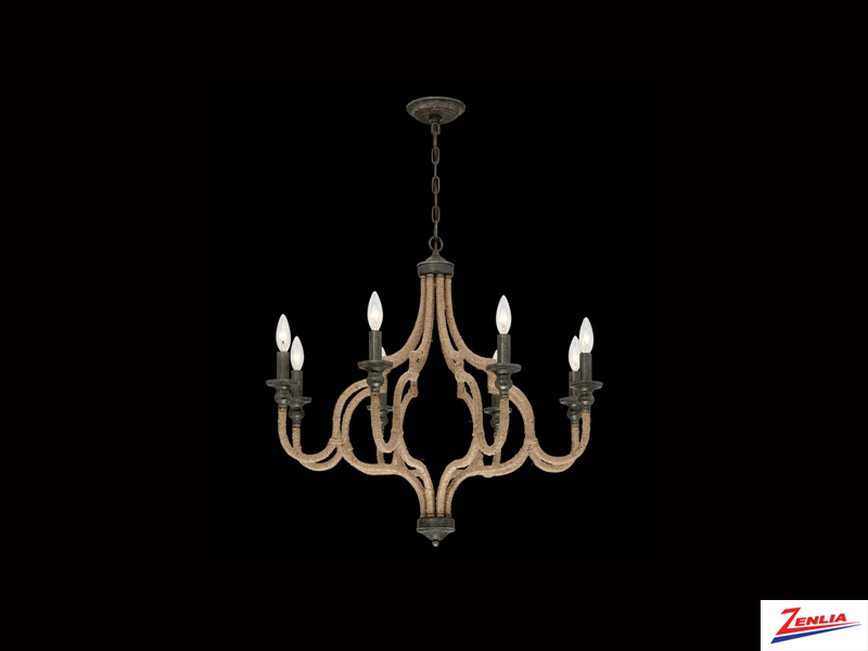 Cord 8 Light Chandelier 2