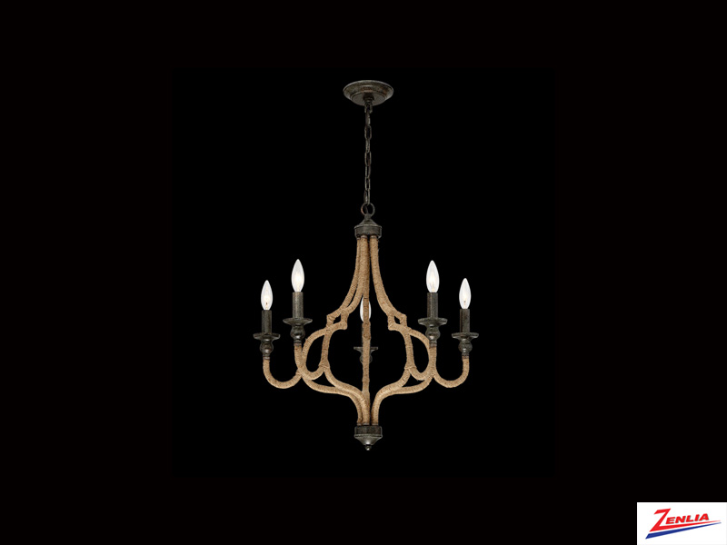 Cord 5 Light Chandelier