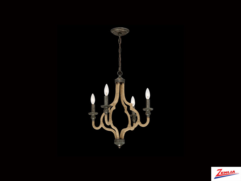 Cord 4 Light Chandelier