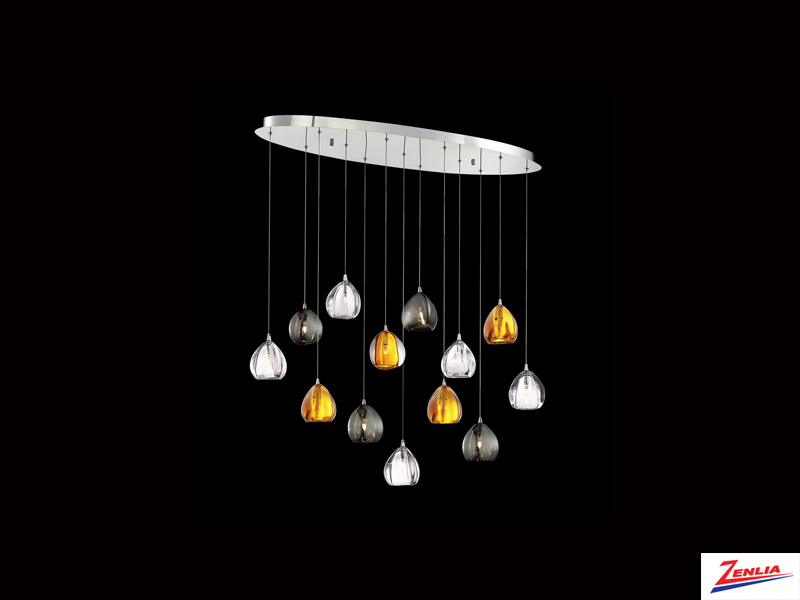 Luci 13 Light Oval Chandelier Mixed