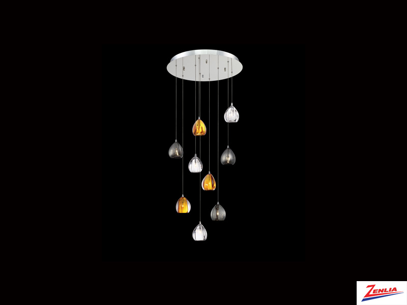 Luci 9 Light Round Chandelier Mixed