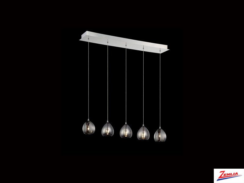Luci 5 Light Linear Chandelier Smoke