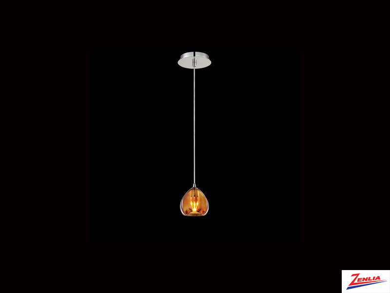 Luci 1 Light Pendant Amber