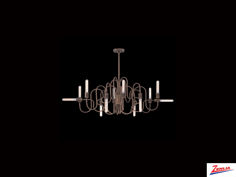 Brig 12 Light Oval Chandelier