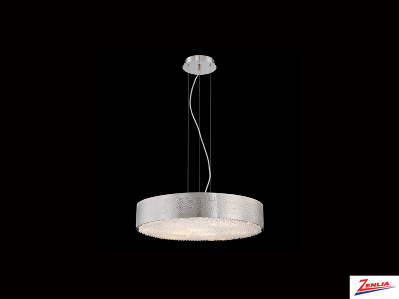 Cara 9 Light Chandelier Nickel
