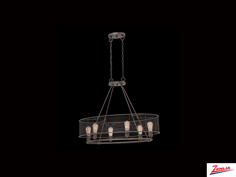 Terr 6 Light Chandelier