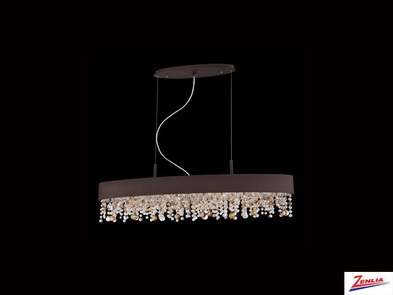 Roman 6 Light Oval Chandelier Bronze Large