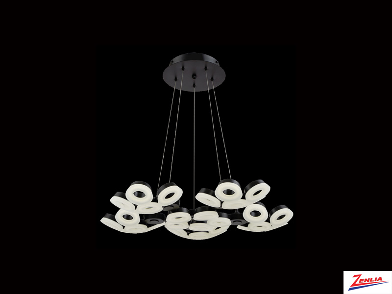 Glen 30 Light Led Chandelier Black