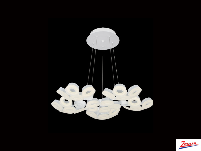 Glen 30 Light Led Chandelier White