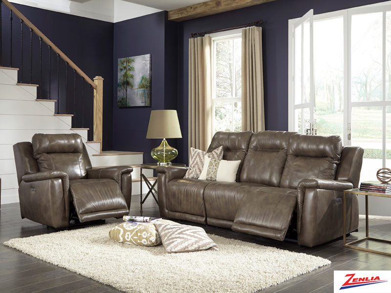 Ril Sofa Set With Power Headrest