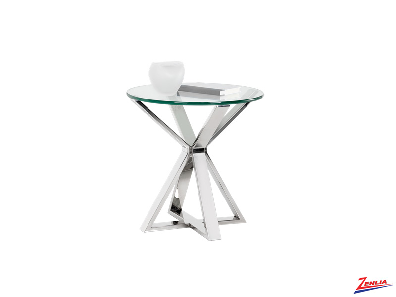 Allis Glass End Table
