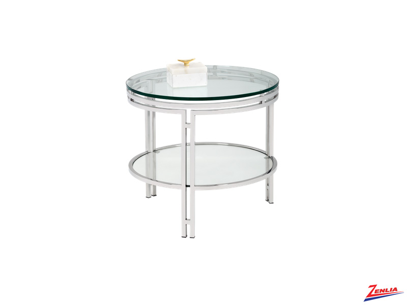 Andro Glass End Table