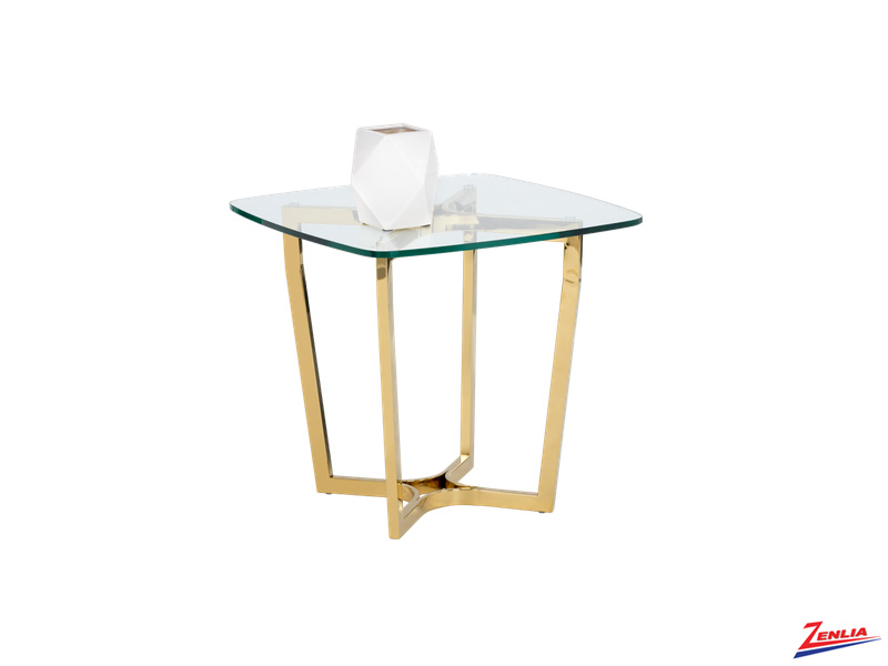 Arche Glass End Table