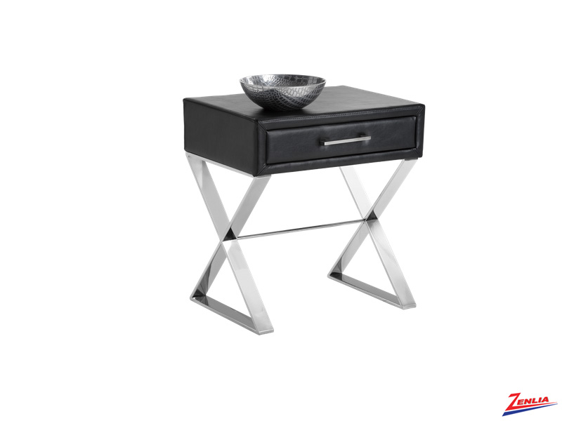 Cas Black End Table