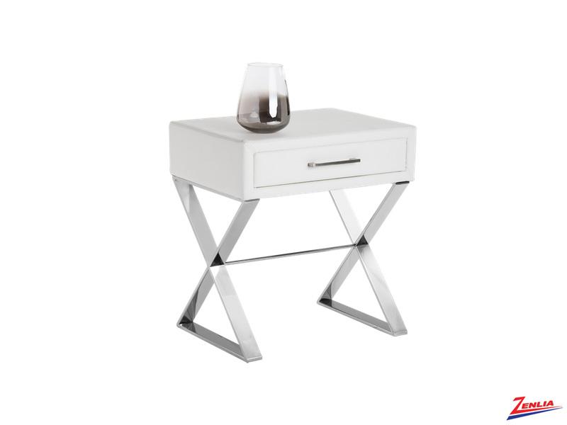 Cas White End Table