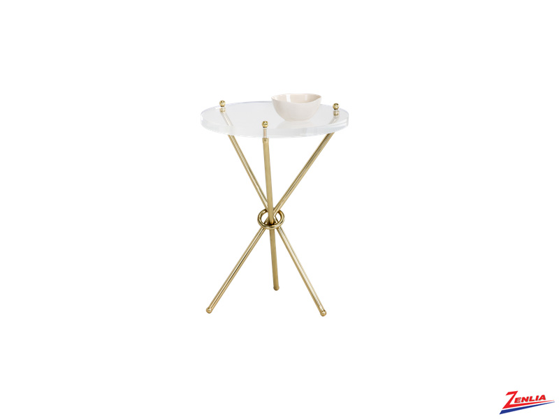 Che Brass End Table
