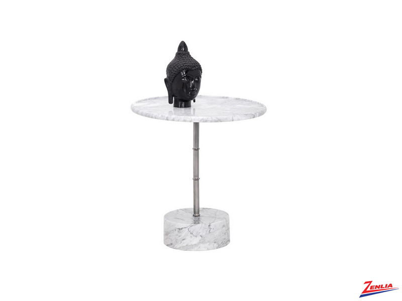Mila White Marble End Table