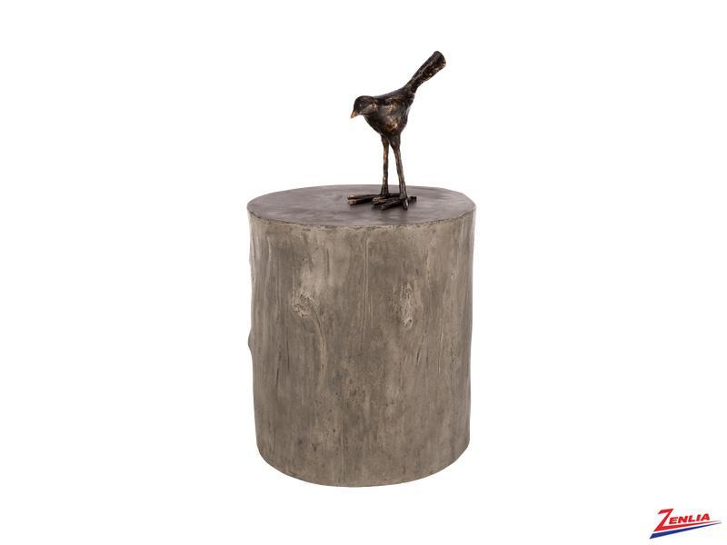 Tre Concrete Gray End Table