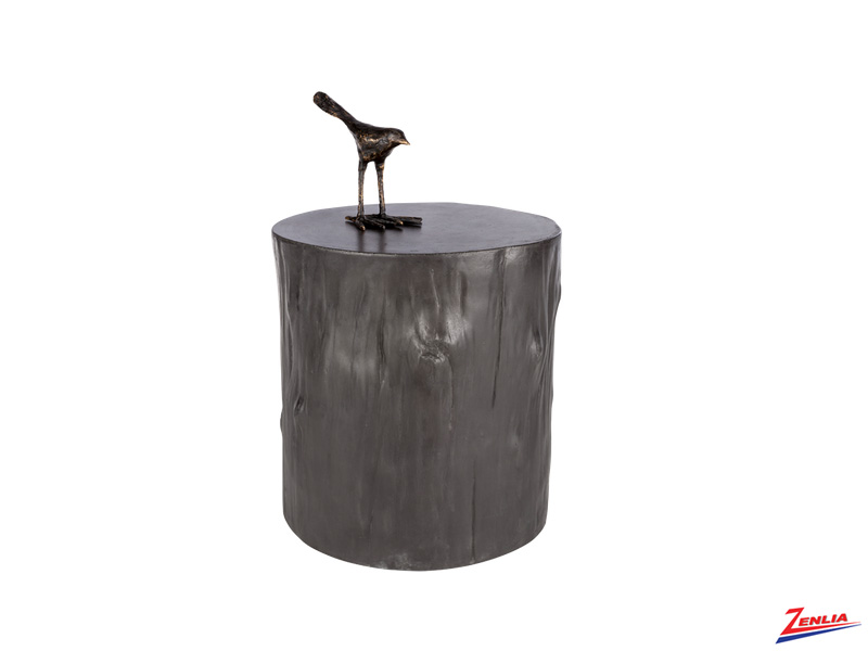 Tre Concrete End Table Black