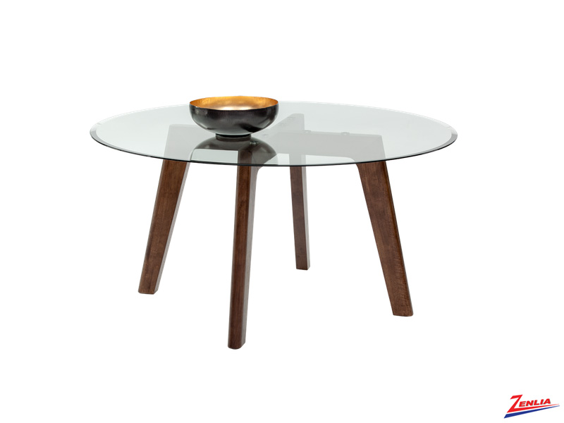 Blaz Round Glass Dining Table