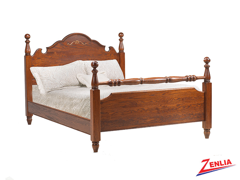 Country Round Panel Bed