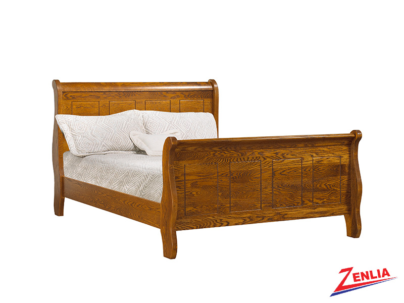 Rust Sleigh Bed