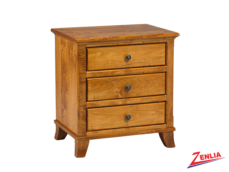 Bour 3 Drawer Night Stand Large