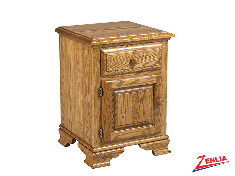 Country 1 Drawer 1 Door Night Stand Small