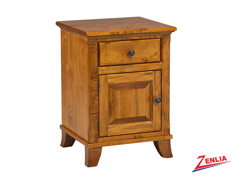 Bour 1 Drawer 1 Door Night Stand Small