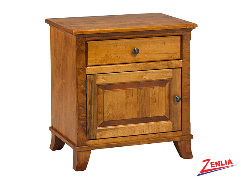 Bour 1 Drawer 1 Door Night Stand Large