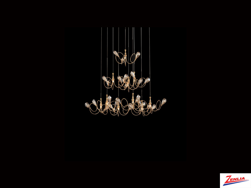 Vola 10 Light Pendant Gold
