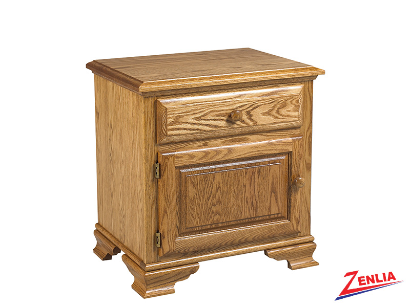 Country 1 Drawer 1 Door Night Stand Large