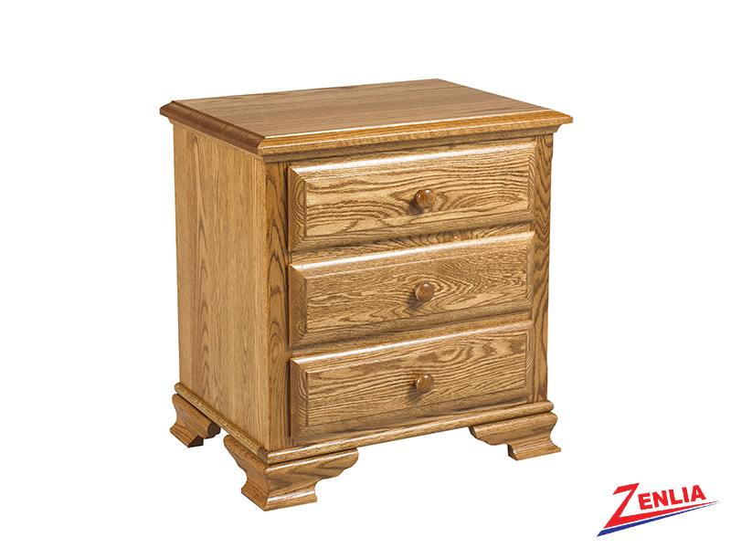 Country 3 Drawer Night Stand Large