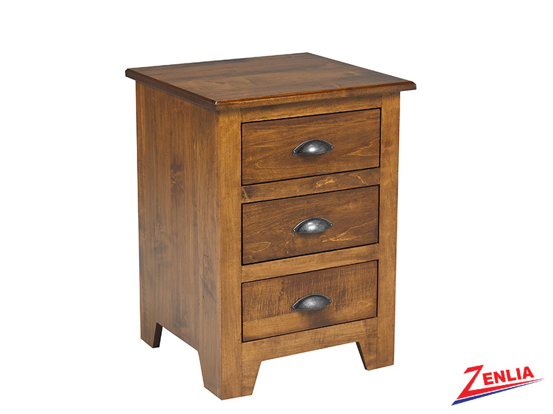 Lake 3 Drawer Night Stand Small