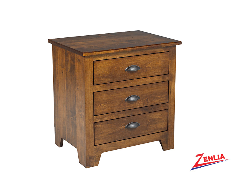 Lake 3 Drawer Night Stand Large