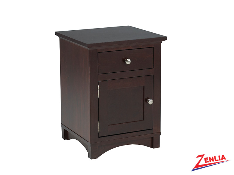 Mont 1 Drawer 1 Door Night Stand Small