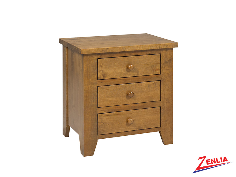 Ruff 3 Drawer Night Stand Large