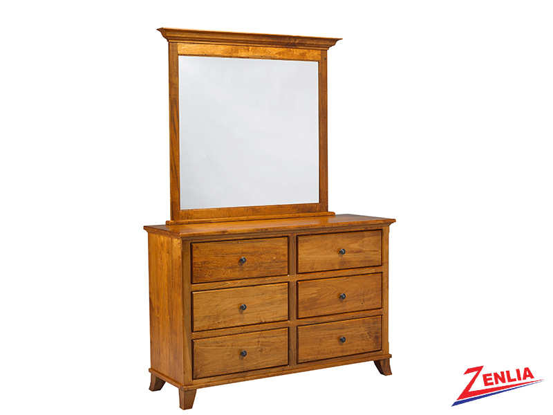 Bour 6 Drawer Dresser And Mirror