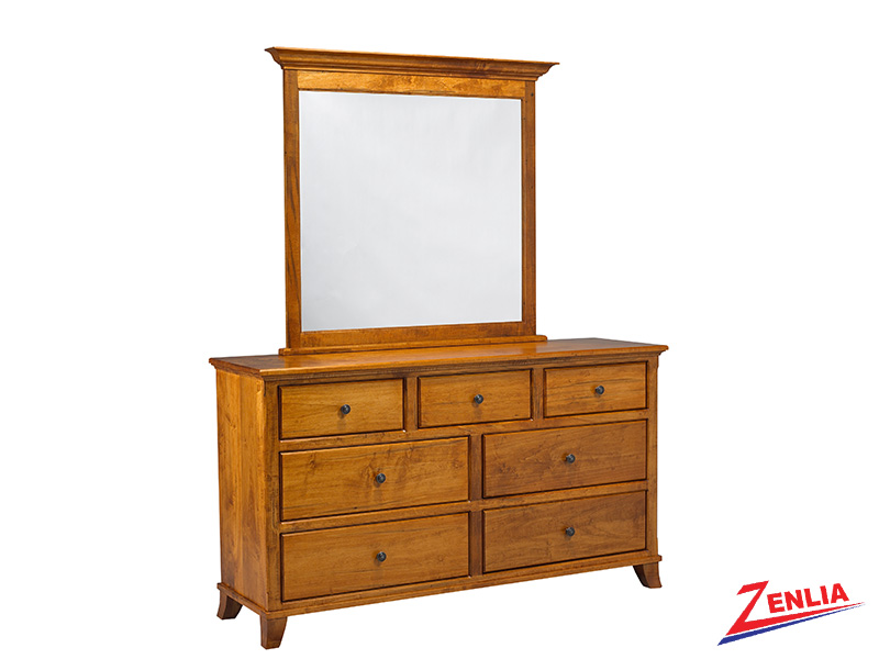 Bour 7 Drawer Dresser And Mirror